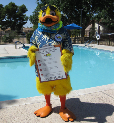 Duckie, the official water safety mascot, invites the public to join him for an afternoon of informative activities during the 13th annual Float Like A Duck from noon to 4 p.m. May 28 at the Heinr ...
