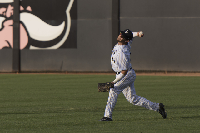 UNLV senior A.J. VanMeetren, shown earlier this season, scored twice and drove in a run Wednesday in the Rebels' 15-7 loss to Air Force in a Mountain West Championship opener in Albuquerque, New M ...
