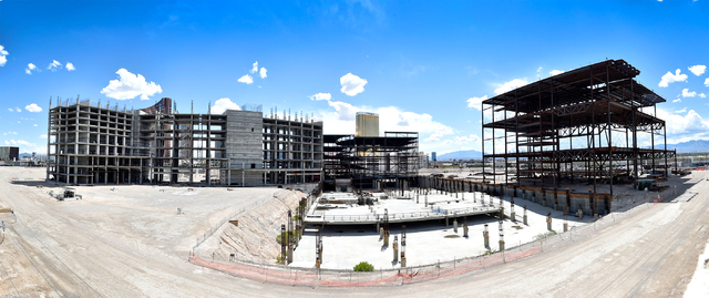The construction site of Resorts World Las Vegas is shown along the Strip Monday, May 2, 2016, in Las Vegas. The property, site of Boyd Gaming's mothballed Echelon project, purchased by Malaysia-b ...