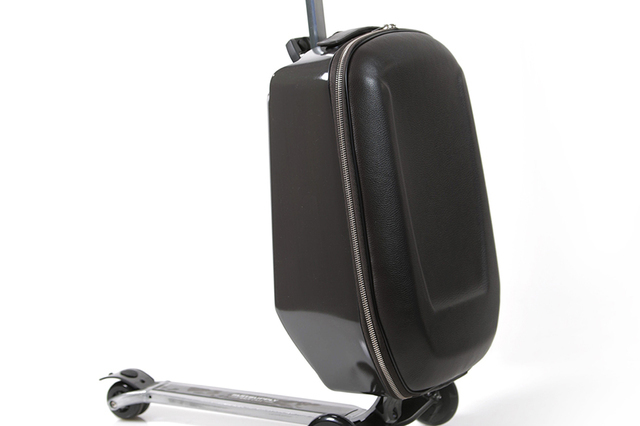 Whether you are jetting off to a new work adventure or academia, arrive in style. A scooter and suitcase combined into one of the coolest carry-on travel accessories of all time, Suitsupply's Ra ...