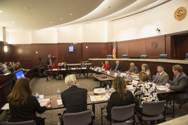The Nevada Supreme court panel to discuss how to fix the stateճ guardianship system meets at the Regional Justice Center in Las Vegas on Friday, April 1, 2016. This was one of the final meetings  ...