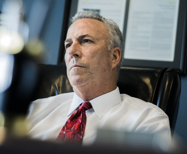 District Attorney Steve Wolfson details the expansion of the gun crimes unit during an interview in his office on Tuesday, May 17, 2016. Jeff Scheid/Las Vegas Review-Journal Follow @jlscheid