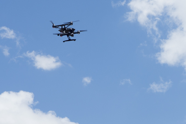 In honor of International Drone Day, Aerodrome held a drone flying day on May 7, 2016, in Boulder City. Bridget Bennett/Las Vegas Review-Journal follow @bridgetkbennett