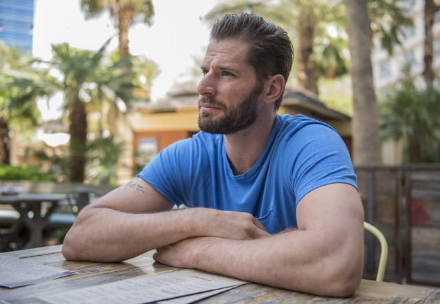 Anaheim Ducks center Ryan Kesler speaks to a reporter while in town to promote next month's NHL hockey awards show from Culinary Dropout inside the Hard Rock hotel-casino in Las Vegas on Thursday, ...