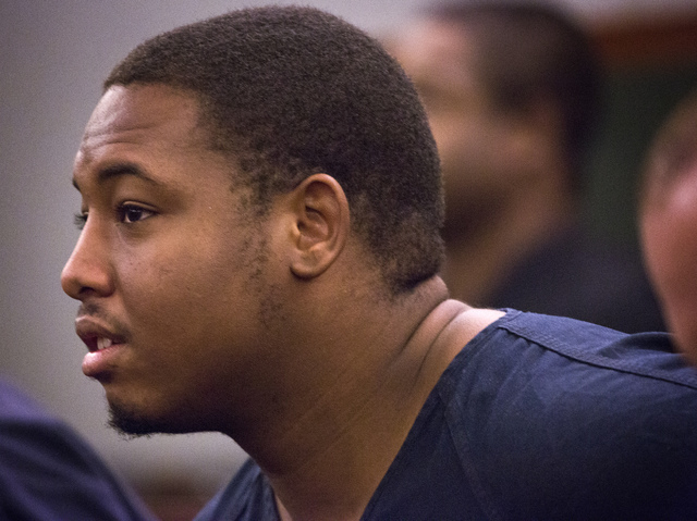 Preston Emerson, 20, appears at Regional Justice Center on Thursday, June 5, 2014. (Jeff Scheid/Las Vegas Review-Journal)