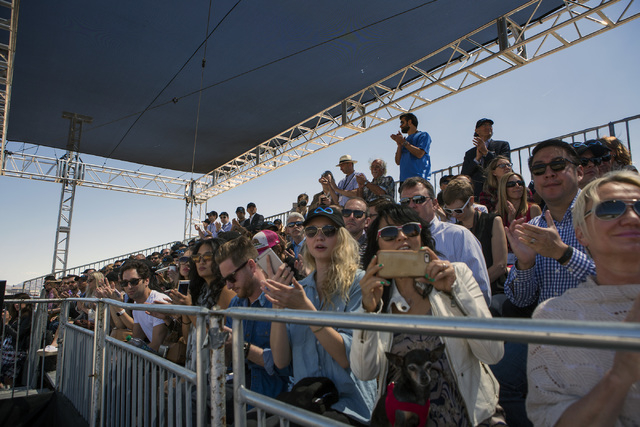 Media and invite guests watch the first public test of Hyperloop One at Apex on Wednesday, May 11, 2016. Jeff Scheid/Las Vegas Review-Journal Follow @jlscheid