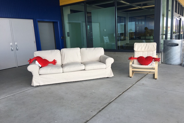 guests line up outside ikea ahead of wednesday s grand opening photos las vegas review journal. Black Bedroom Furniture Sets. Home Design Ideas