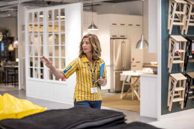 Amy Jensen, the store manager of IKEA Las Vegas, leads tours on Wednesday, May 11, 2016. The new IKEA located near Durango and 215 opens on May 18th. Joshua Dahl/Las Vegas Review-Journal