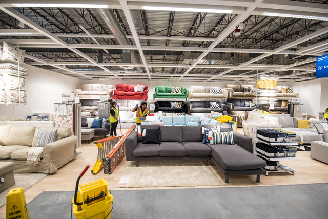 Work proceeds in the showroom area of IKEA on Wednesday, May 11, 2016. The new IKEA located near Durango and 215 opens on May 18th. Joshua Dahl/Las Vegas Review-Journal