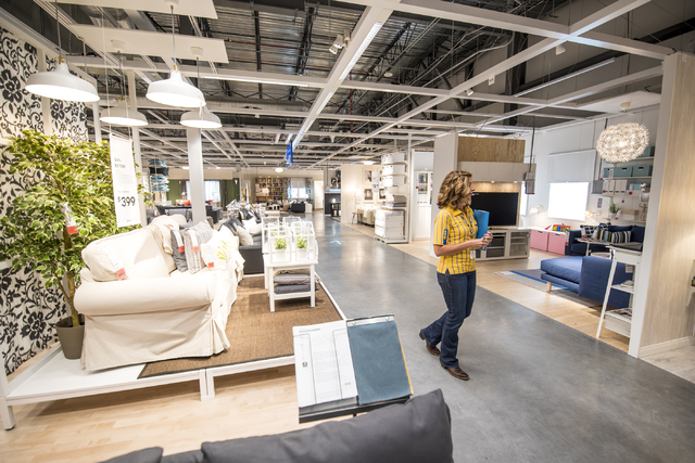 Amy Jensen, the store manager of IKEA Las Vegas, walks through the showroom area of IKEA during a tour on Wednesday, May 11, 2016. The new IKEA located near Durango and 215 opens on May 18th. Josh ...