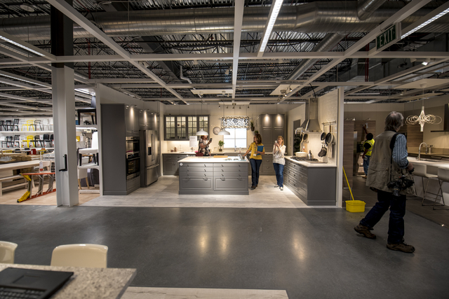 Amy Jensen, the store manager of IKEA Las Vegas, leads members of the media on a showroom tour at IKEA on Wednesday, May 11, 2016. The new IKEA located near Durango and 215 opens on May 18th. Josh ...