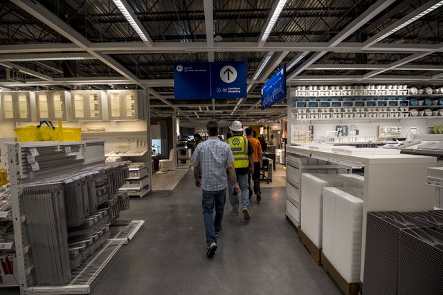 Members of the media tour the IKEA showroom on Wednesday, May 11, 2016. The new IKEA located near Durango and 215 opens on May 18th. Joshua Dahl/Las Vegas Review-Journal