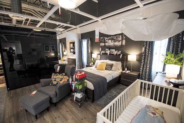 Bedroom furniture is on display in the IKEA showroom on Wednesday, May 11, 2016. The new IKEA located near Durango and 215 opens on May 18th. Joshua Dahl/Las Vegas Review-Journal