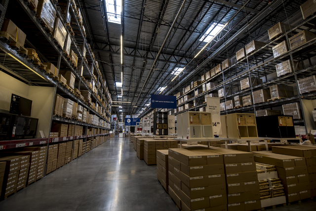 The self service warehouse area of IKEA is shown on Wednesday, May 11, 2016. The new IKEA located near Durango and 215 opens on May 18th. Joshua Dahl/Las Vegas Review-Journal