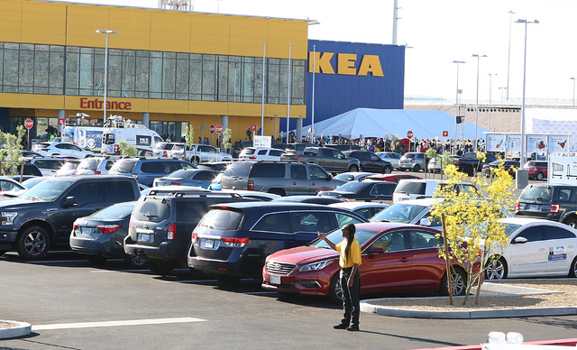 crowds swarm new ikea store in las vegas on opening day las vegas review journal. Black Bedroom Furniture Sets. Home Design Ideas