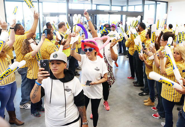 Customers enter Nevada's first IKEA store on Wednesday, May 18, 2016. Bizuayehu Tesfaye/Las Vegas Review-Journal Follow @bizutesfaye