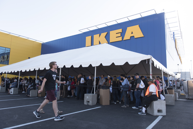 Patrons wait in line during the opening day event for IKEA in Las Vegas Wednesday, May 18, 2016. Jason Ogulnik/Las Vegas Review-Journal