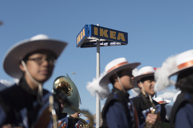 The Legacy High School marching band prepares to perform during the opening day event for IKEA in Las Vegas, Wednesday, May 18, 2016. Jason Ogulnik/Las Vegas Review-Journal