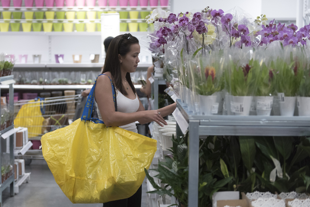 Brianna Awa shops during the opening day event for IKEA in Las Vegas Wednesday, May 18, 2016. Jason Ogulnik/Las Vegas Review-Journal