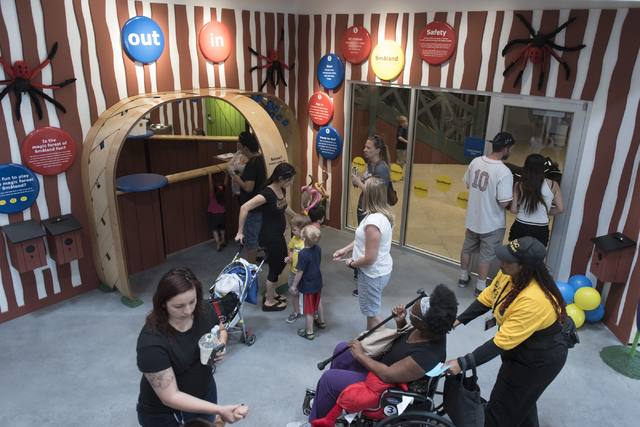 Patrons visit the children's play area during the opening day event for IKEA in Las Vegas Wednesday, May 18, 2016. Jason Ogulnik/Las Vegas Review-Journal