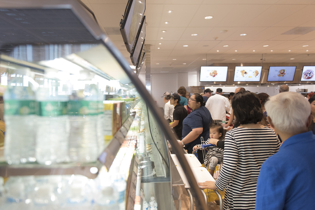 Customers visit the upstairs restaurant during the opening day event for IKEA in Las Vegas Wednesday, May 18, 2016. Jason Ogulnik/Las Vegas Review-Journal