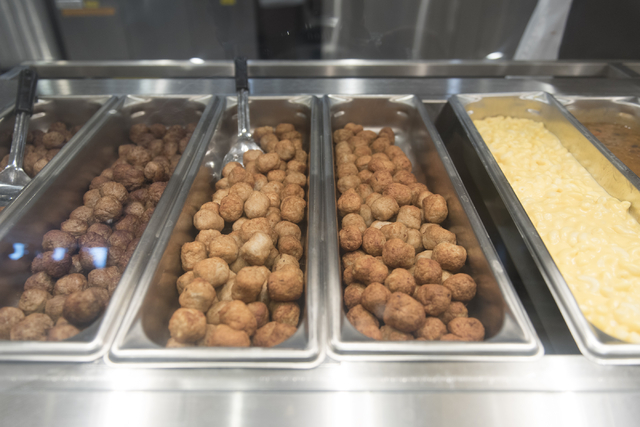 Meatballs and macaroni and cheese are seen in the upstairs restaurant area during the opening day event for IKEA in Las Vegas Wednesday, May 18, 2016. Jason Ogulnik/Las Vegas Review-Journal