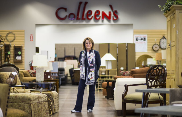Colleen Aiken, owner of Colleen's Classic Consignment, poses for a photo in one of her stores at 5120 S. Fort Apache Road in Las Vegas on Friday, May 6, 2016. Chase Stevens/View Follow @csstevensphoto