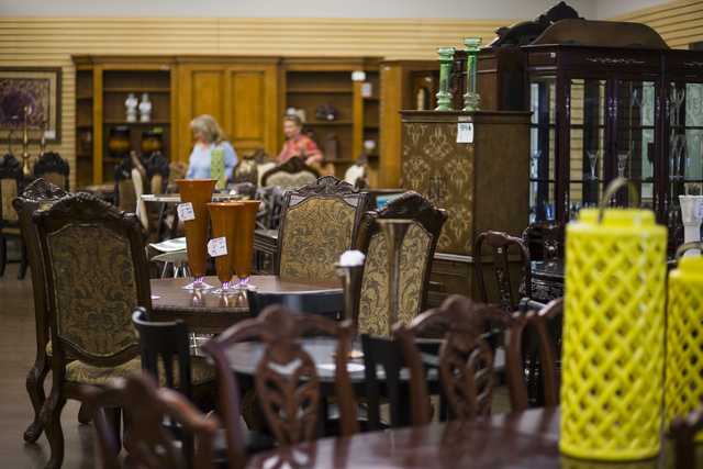 Furniture displays are shown in Colleen's Classic Consignment at 5120 S. Fort Apache Road in Las Vegas on Friday, May 6, 2016. Chase Stevens/View Follow @csstevensphoto