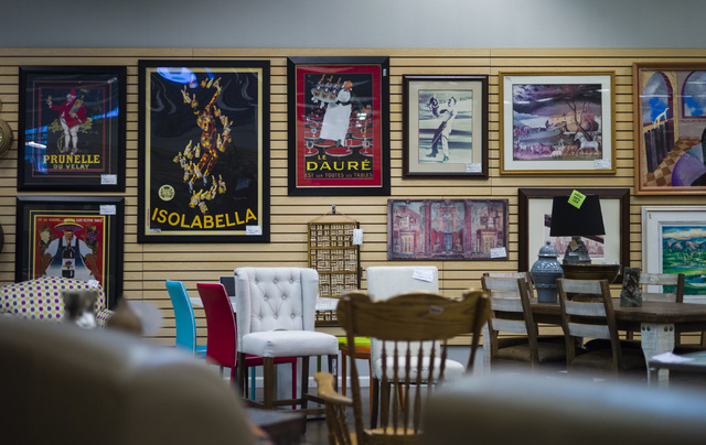 Posters, chairs and a table are shown in Colleen's Classic Consignment at 5120 S. Fort Apache Road in Las Vegas on Friday, May 6, 2016. Chase Stevens/View Follow @csstevensphoto