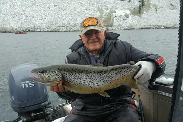 Henderson Fisherman Reels In Biggest Brown Trout New Boat
