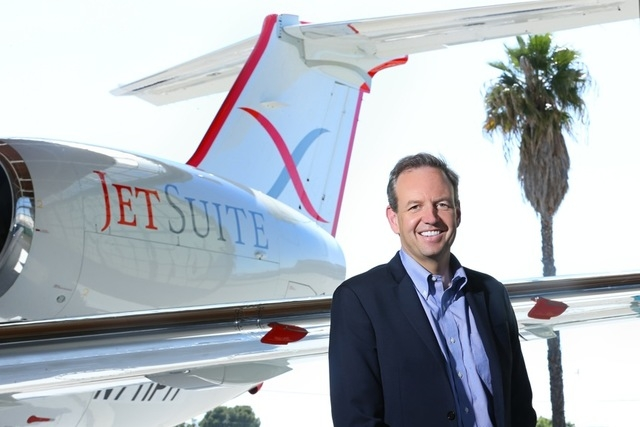 Alex Wilcox is the CEO of Irvine, California-based JetSuiteX, which will begin scheduled charter flights between Las Vegas and Burbank, California, beginning May 26. (Courtesy)