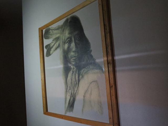 Work crews found this drawing in a rundown building at Stewart Indian School in Carson City. The unsigned portrait was framed and hung on a wall of a girls' dormitory. Efforts are under way to rai ...