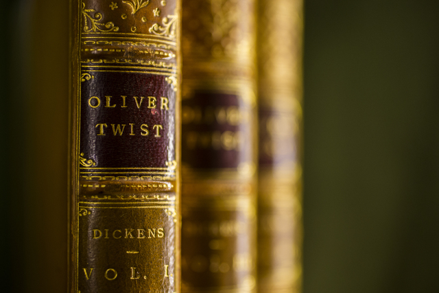 An original copy of Oliver Twist at Bauman Rare Books, Thursday, May 5, 2016, in Las Vegas. (Benjamin Hager/Las Vegas Review-Journal) Follow @benjaminhphoto