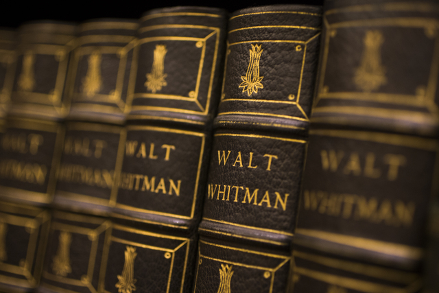 Works by Walt Whitman at Bauman Rare Books, Thursday, May 5, 2016, in Las Vegas. (Benjamin Hager/Las Vegas Review-Journal) Follow @benjaminhphoto