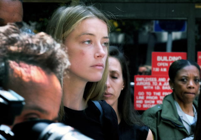Amber Heard leaves Los Angeles Superior Court court on Friday, May 27, 2016. (Richard Vogel/The Associated Press)