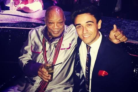 Quincy Jones, left, and Las Vegas protege Tommy Ward. (Courtesy photo)