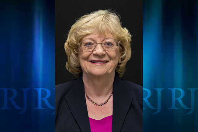 Democratic candidate for Nevada Senate District 5 Joyce Woodhouse (incumbent) is photographed at the Las Vegas Review-Journal offices on Monday, April 25, 2016. Not pictured is Nicholas Lash, also ...