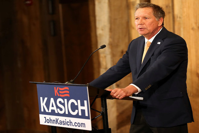 Ohio Governor John Kasich speaks as he withdraws as a U.S. Republican presidential candidate in Columbus, Ohio, U.S., May 4, 2016. (Aaron Josefczyk/Reuters)