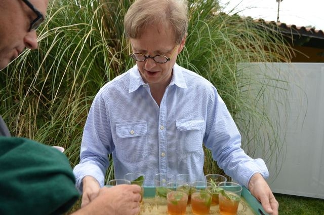 Comedy magician Mac King serves mint juleps at his 16th annual Kentucky Derby Party at his home in Rancho Bel Air May 7, 2016. Ginger Meurer/Special to View
