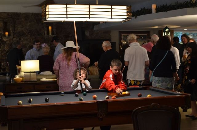 Children play pool during Mac King's 16th Kentucky Derby Party May 7, 2016. Ginger Meurer/Special to View