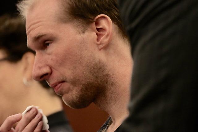 Former Rancho High School teacher Jason Lofthouse appears for sentencing. (Jeff Scheid/Las Vegas Review-Journal)