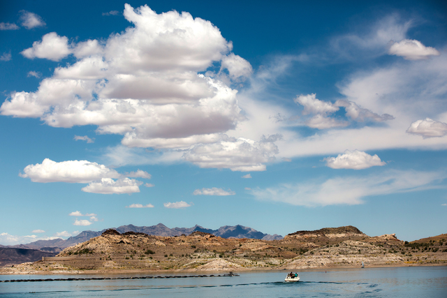 A boat leaves Lake Mead Marina at Lake Mead National Recreation Area, Wednesday, May 18, 2016, in Boulder City, Nevada. Benjamin Hager/Las Vegas Review-Journal