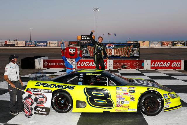 April 23, 2016: Noah Gragson wins during Hometown Heroes Night presented by K&N Filters at The Bullring at Las Vegas Motor Speedway in Las Vegas, NV. (Photo by Jeff Speer/LVMS)