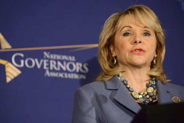 Oklahoma Republican Gov. Mary Fallin makes remarks before the opening of the National Governors Association Winter Meeting in Washington, Feb. 22, 2014. (Mike Theiler/Reuters)