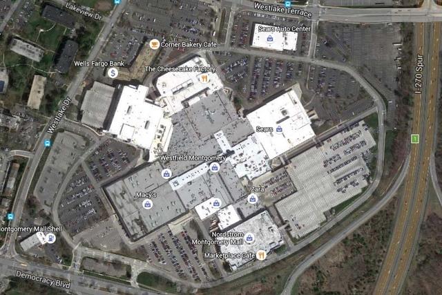 Westfield Montgomery Mall outside Washington, D.C. (Google Earth)