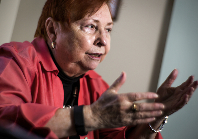 Dr. Barbara Atkinson, founding dean of UNLV School Of Medicine, updates the latest developments of the school in her office on  Friday, April 1, 2016. Jeff Scheid/Las Vegas Review-Journal Follow @ ...