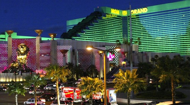 Exterior view of the MGM Grand hotel-casino on the Las Vegas Strip, March 25, 2005. (Ralph Fountain/Las Vegas Review-Journal)