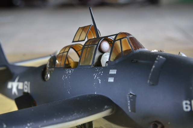 A model of a TBF Avenger built by Bob Lomassaro is shown during a meeting of the Las Vegas chapter of the International Plastic Modelers Society at the home of society member Joe Porche in Las Veg ...