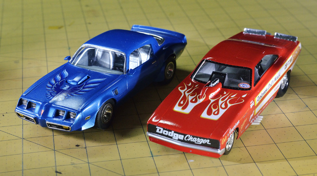 A pair of cars built by Joe Porche are shown during a meeting of the Las Vegas chapter of the International Plastic Modelers Society at his home in Las Vegas on Wednesday, May 4, 2016. Bill Hughes ...