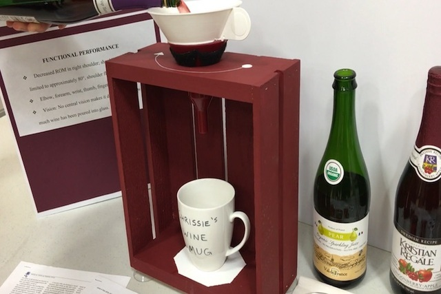 """Touro University student Lisa Bosely's """"Cassie's Wine Mug"""" is displayed on Wednesday, May 25, 2016. (Caitlin Lilly/Las Vegas Review-Journal)"""